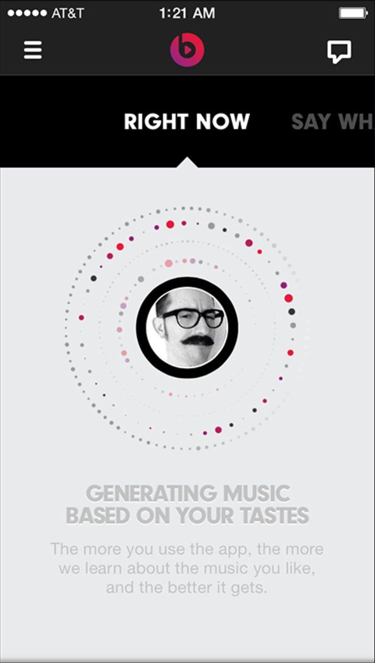 Beats Music Music Streaming App Simple Graphics