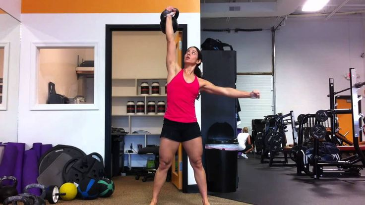Female 24kg Overhead Press at 123 pounds