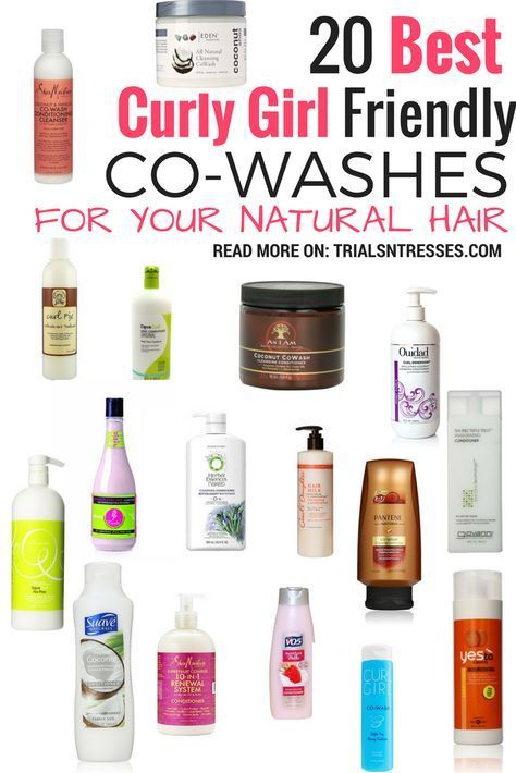 20 Best Curly Girl Friendly Co-Washes For Your Natural Hair #haircarecurly