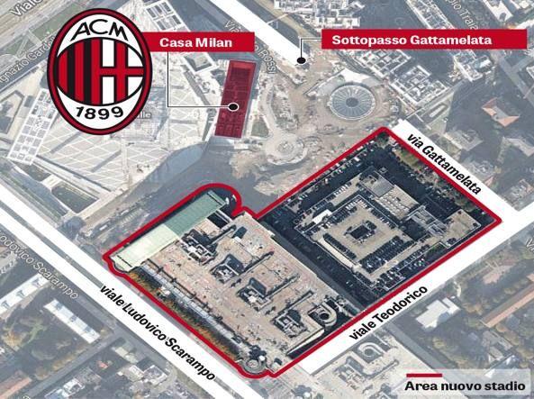 Ecco il nuovo stadio del Milan: arena da 42 mila posti al Portello. Su corriere.it