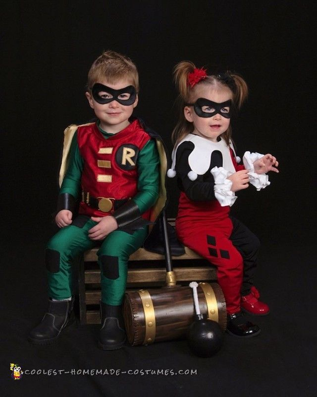 650 best couples halloween costumes images on pinterest couple cosplay inspired harley quinn and robin toddler costumes solutioingenieria Images
