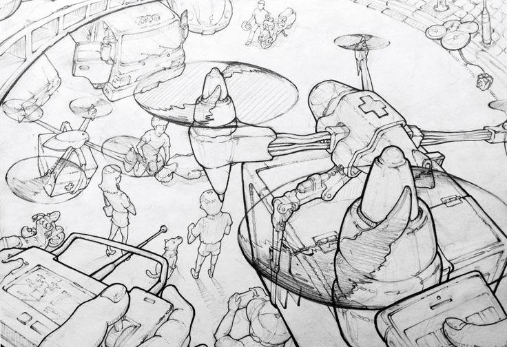 드론의 쓰임세에 대한 rough sketch