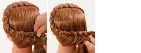 Adorable festive with classic braided hairstyle