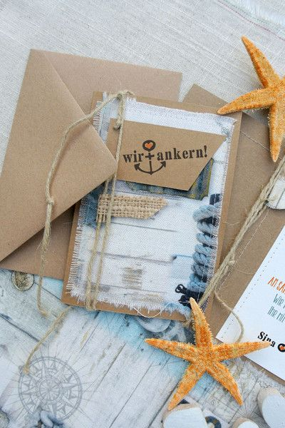 Einladungskarten - MARITIM WEDDING Hochzeitseinladung - ein Designerstück von Papierwiese bei DaWanda