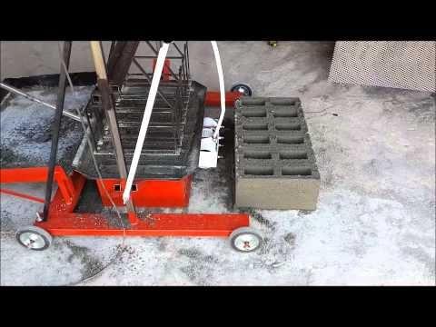Bloquera Ponedora Industrial Athlon 6 + Mezcladora horizontal - YouTube