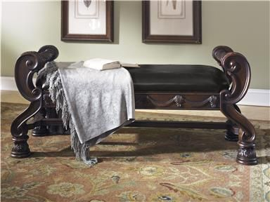 exquisite furniture. shop for millennium large uph bedroom bench and other benches at americana furniture in tucker ga a rich traditional design exquisite details come e