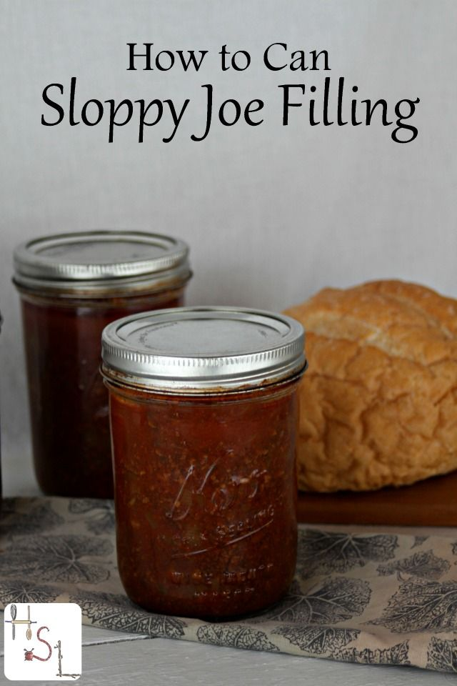 Make and can sloppy joe filling to have a quick and homemade meal ready in the pantry without the dubious ingredients of processed store-bought versions.
