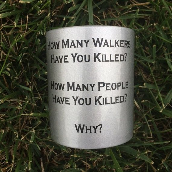 "The Three-Question Mug: | 27 Gifts Only True ""Walking Dead"" Fans Will Appreciate"