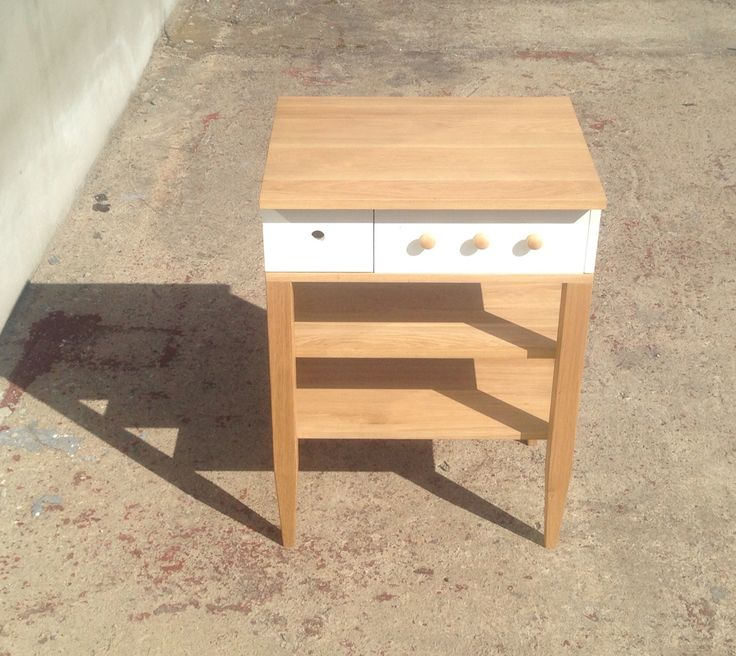 New part of Duo collection is ready!! Kitchen isle. Solid oak and paint. More on www.facebook.com/woodandpaperpl #woodandpaperpl #solidwood #oak #kitchen #design #handmade