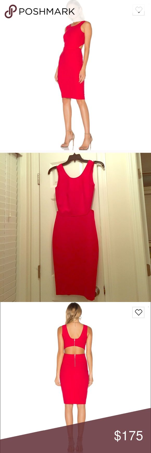 Elizabeth and James Emmy Dress Beautiful bright red Elizabeth and James Emmy dress in cardinal. Two separate back zippers for top and bottom sections of dress. Elizabeth and James Dresses Midi