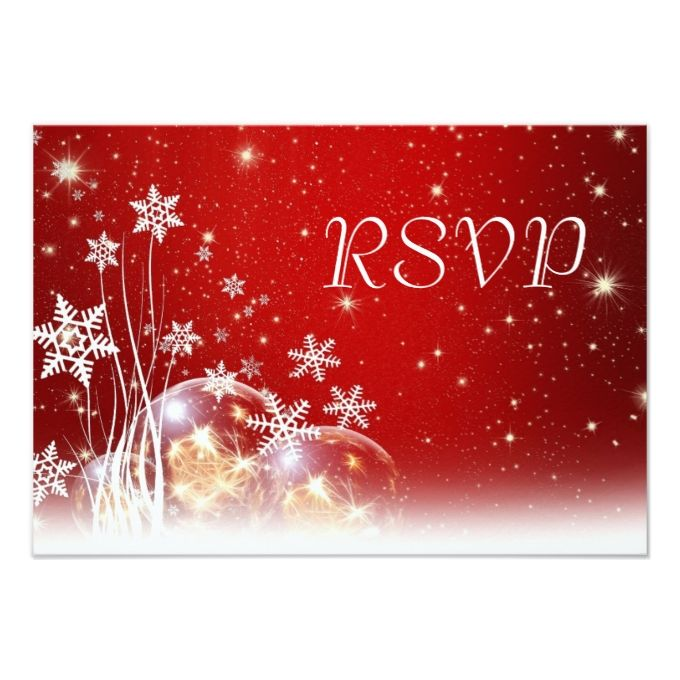 2145 best christmas wedding invitations images on pinterest red and white christmas wedding rsvp 35x5 paper invitation card stopboris Choice Image