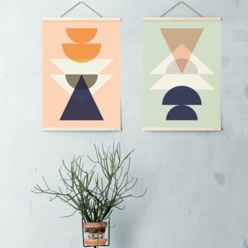 Wooden frames large, maple, by Ferm Living.