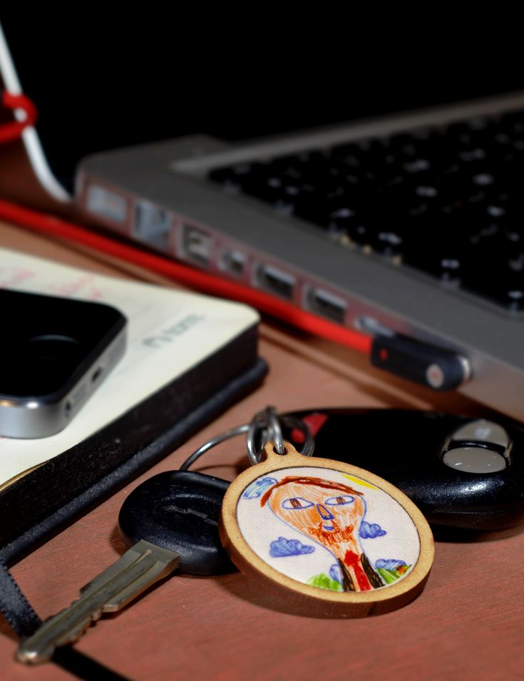 Kids Art Work Keychain. #KidsArtWork #KidsDrawing #KidsDrawingInto