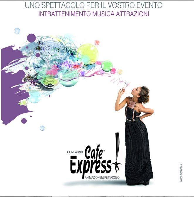 Welcome to Cafè Express Intrattenimento & Spettacoli Desiderate un evento perfetto, che lasci il segno? Non potete fare a meno di #musica, #magia, #teatro, #cabaret, #danza, #spettacoli, non potete fare a meno di Cafè Express, il nuovo partner di W.E.Concept!