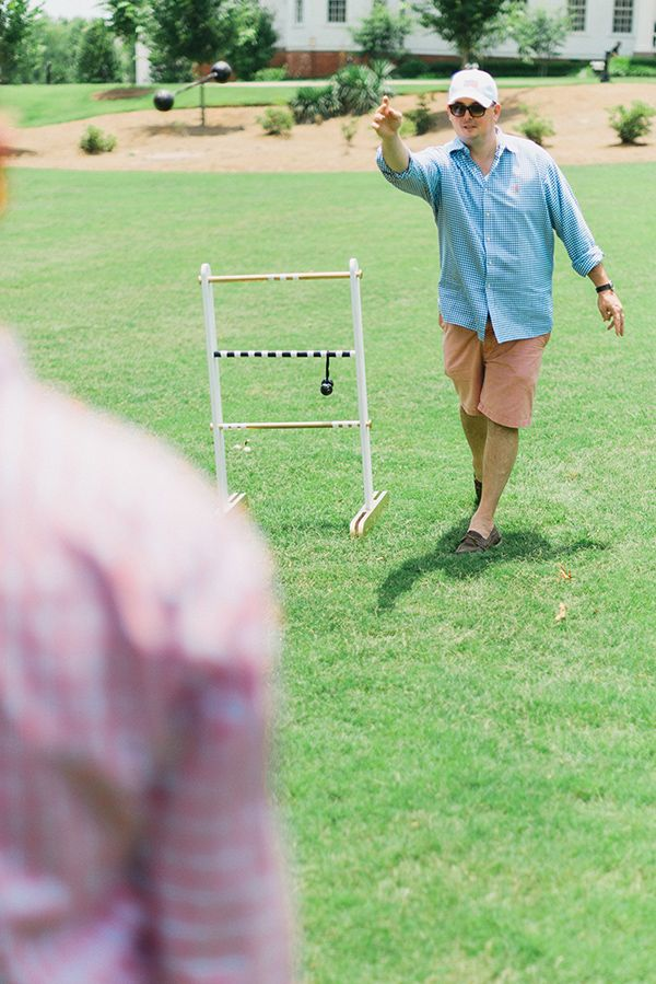 This DIY ladder toss game by stylist Mandy Kellogg Rye is a great backyard game for the whole family. See the tutorial on The Home Depot Blog. || @waitingonmartha