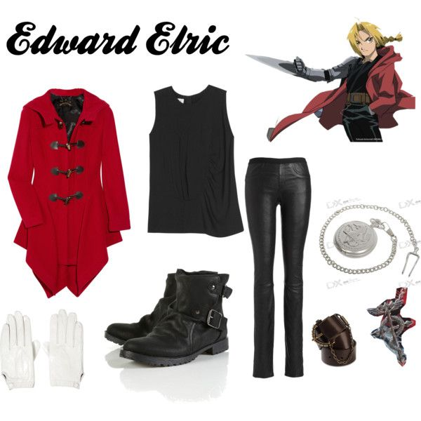 Edward Elric (Fullmetal Alchemist), created by kaylafaith...Already have the pocket watch and necklace, just need the other stuff! : )
