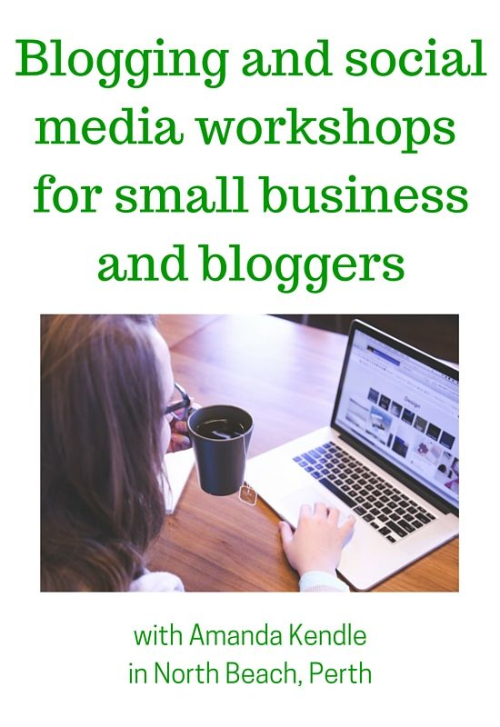 Workshops for small business and bloggers in Perth - social media and blogging