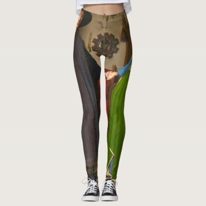 Van Eyck - Arnolfini Portrait Leggings - portrait gifts cyo diy personalize custom