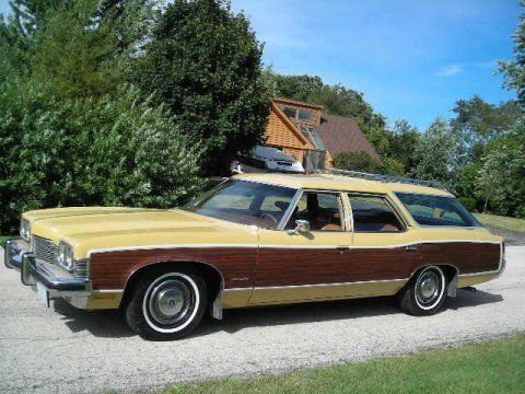 1973 Pontiac Catalina Safari Woody Wagon For Sale Front