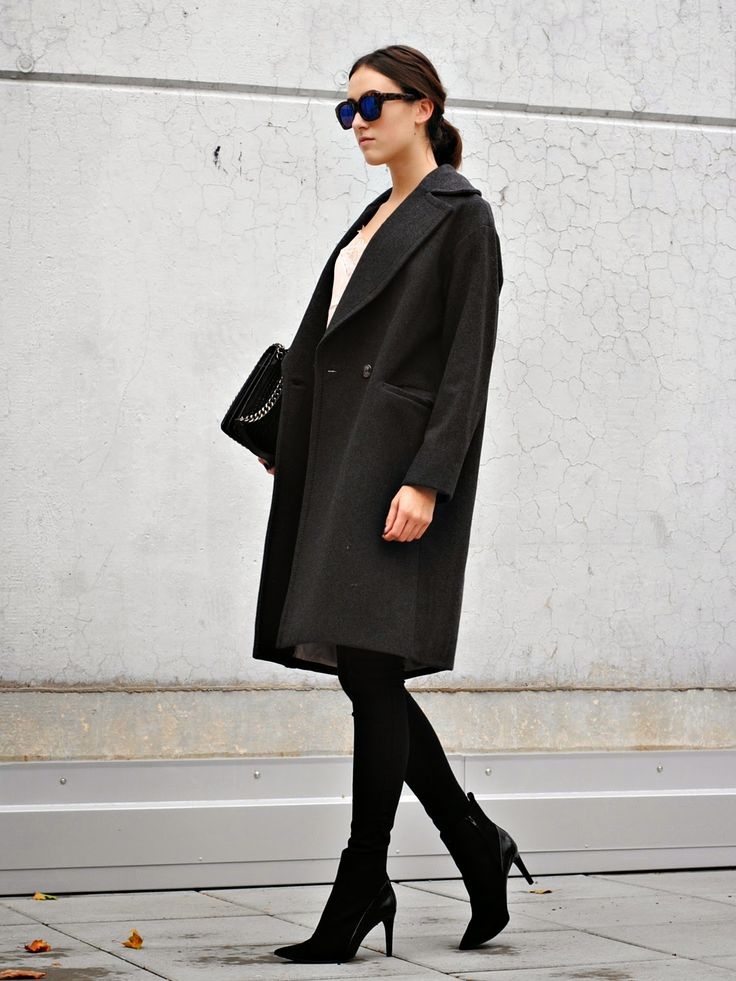 trippin' on fashion: OOTD- BLACK POINTED HIGH HEELS
