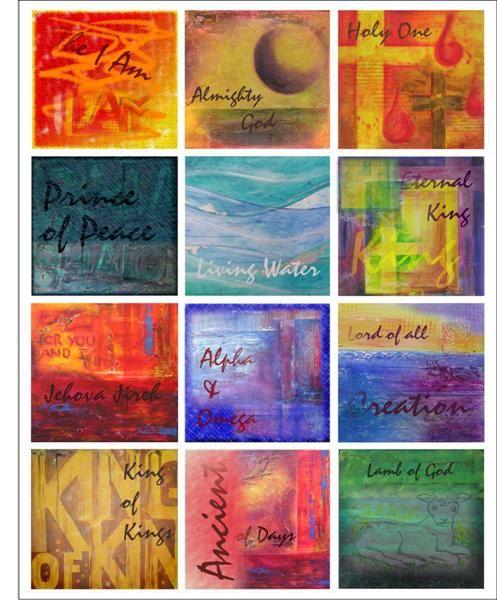 Names of God artwork print 8x10 - Printable downloadable