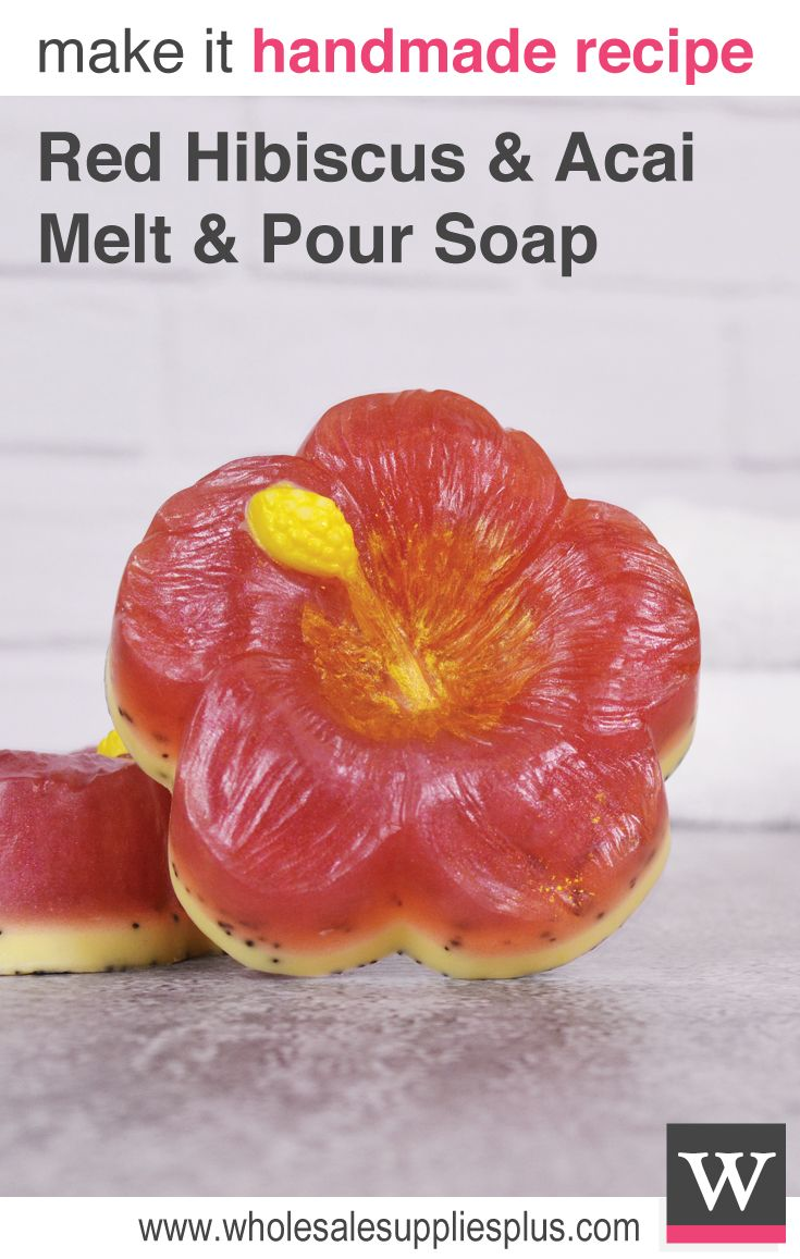 Red Hibiscus and Acai Melt and Pour Soap Recipe, Free Soap Recipe, Free Melt and Pour Soap Recipe, Recipe Library, DIY Soap, Handmade Soap Recipe, DIY Soap Recipe