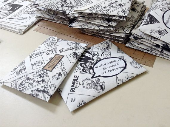 Calvin and Hobbes Envelopes: Comic envelopes on Etsy, $12.00