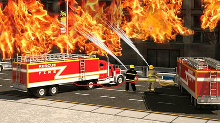 911 Rescue Fire Truck 3D Simulator Gameplay. Best android iOS apps for k...