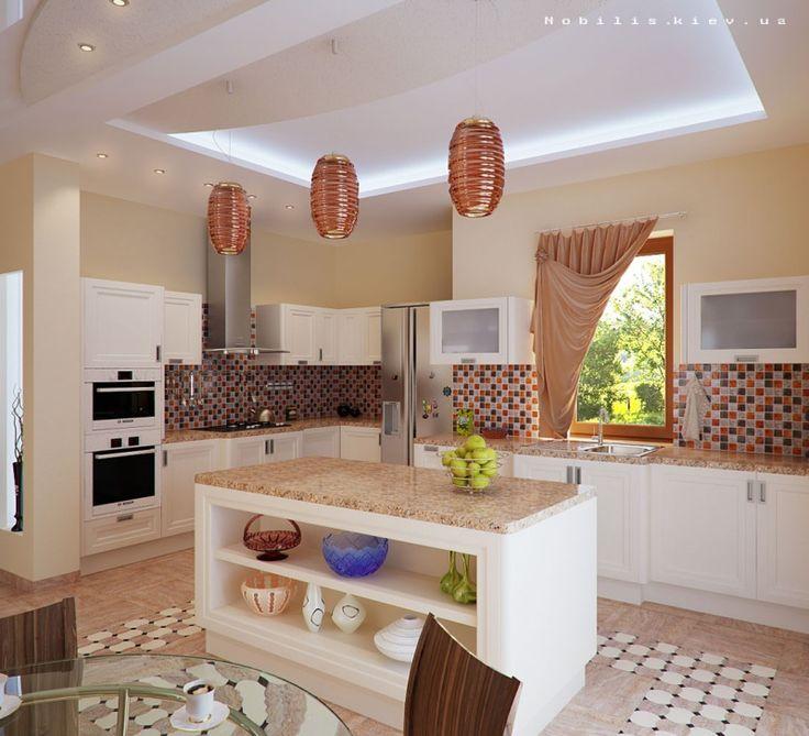 Интерьеры кухонь в частных домах фото