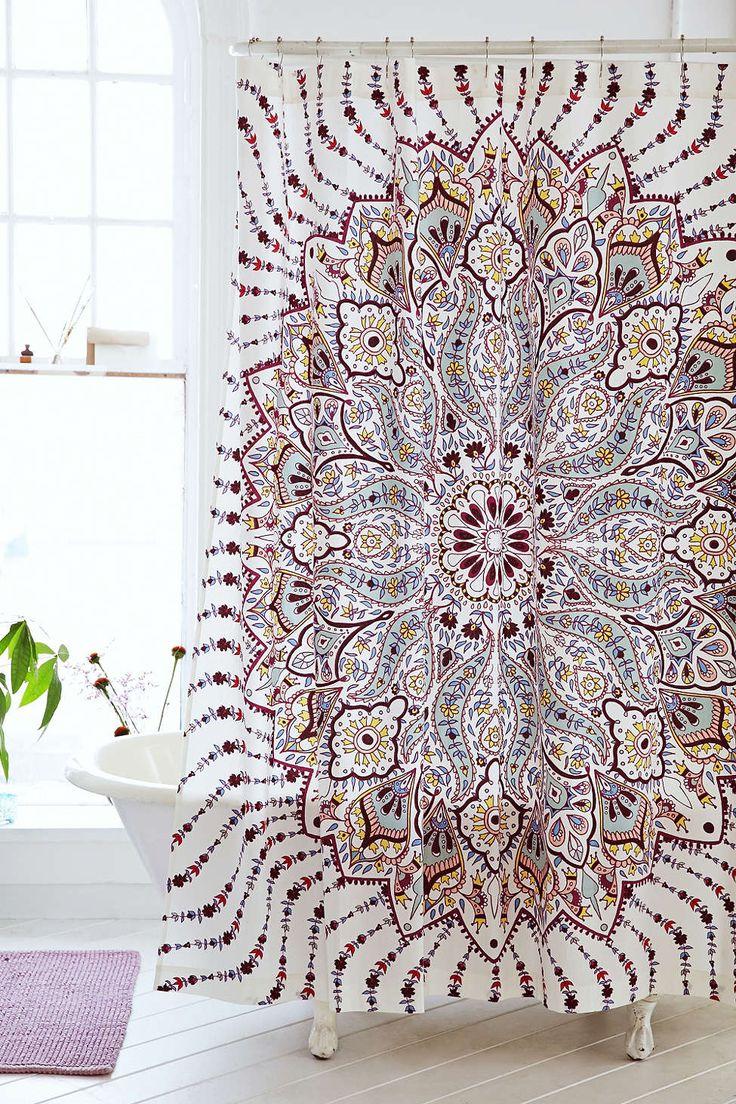Peacock shower curtain urban outfitters - Plum Bow Lalita Medallion Shower Curtain