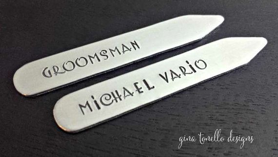 Collar Stays, Personalized Collar Stays, Mens Gift, Dad Gift, Gift for Him, Gift for Dad, Fathers Day Gift, Groomsmen… www.ginatonello.com