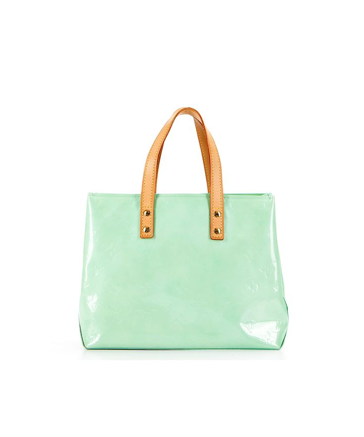 Louis Vuitton Pre Owned Peppermint Vernis Leather Reade Pm Bag In Green Modesens Pre Owned Louis Vuitton Louis Vuitton Bags
