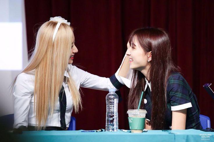 WJSN - Bona #보나 (Kim Jiyeon #김지연) & Eunseo #은서 (Son Juyeon #손주연) at fanmeeting