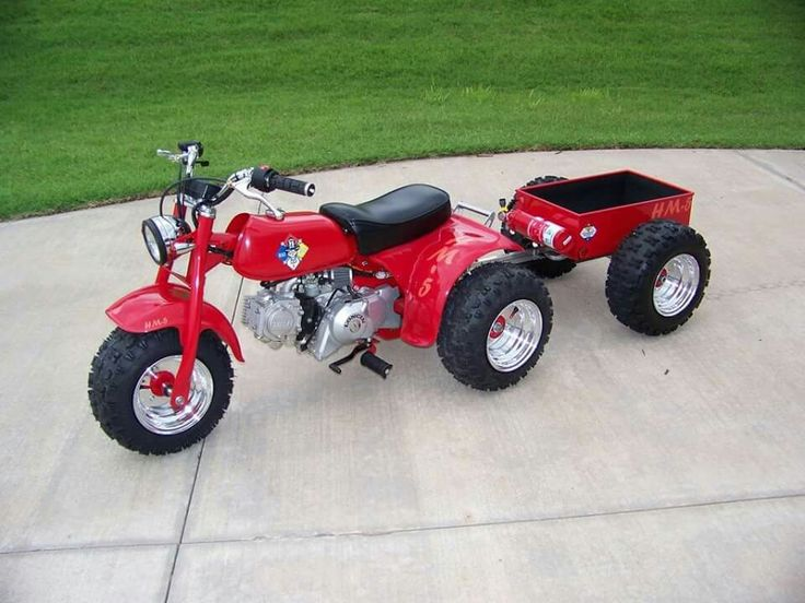 Three Wheeler Accessories : This is a cool build from the headlight to lil trailer