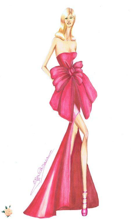 Vestido en satén con grán lazo