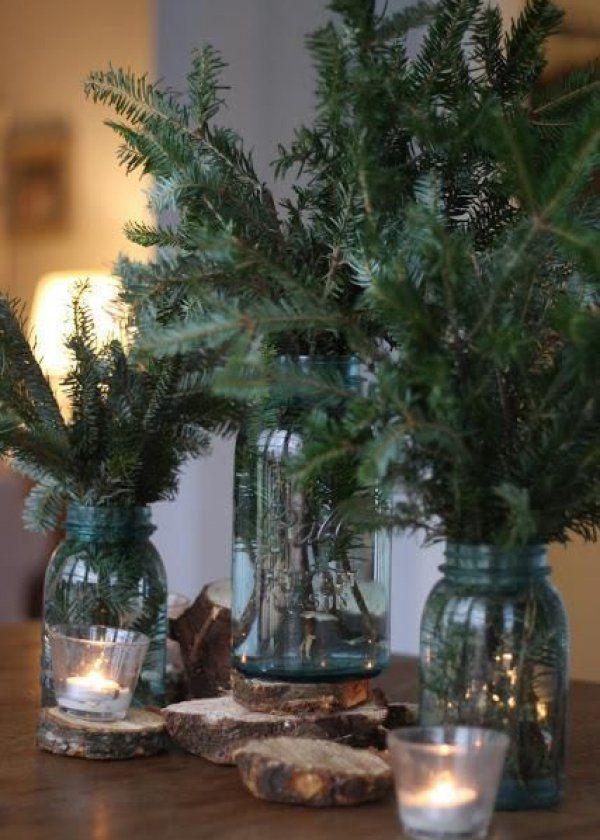 La branche de sapin accumulée pour faire un bouquet , christmas decoration
