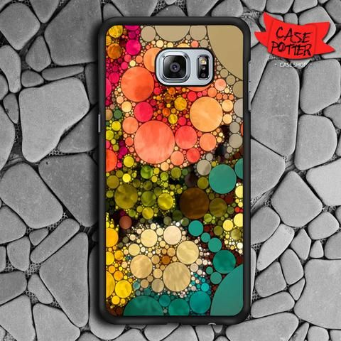 Pattern Round Full Color Samsung Galaxy S6 Edge Plus Black Case