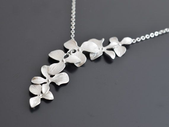 20 off SALE  Beautiful lariat 6 orchid white gold by LilliDolli, $25.00