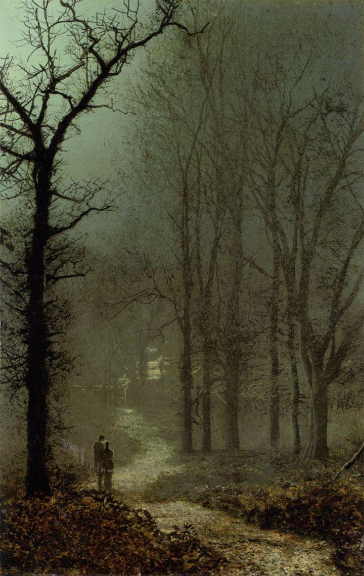 Lovers in a Wood by Moonlight - John Atkinson Grimshaw 1873