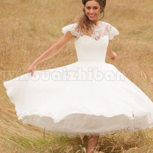 12 best 50s wedding dresses images on Pinterest | Short wedding ...