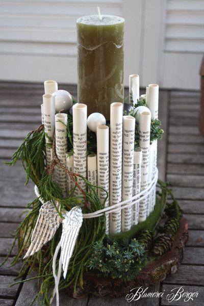 Kerzenständer aus Papierrollen