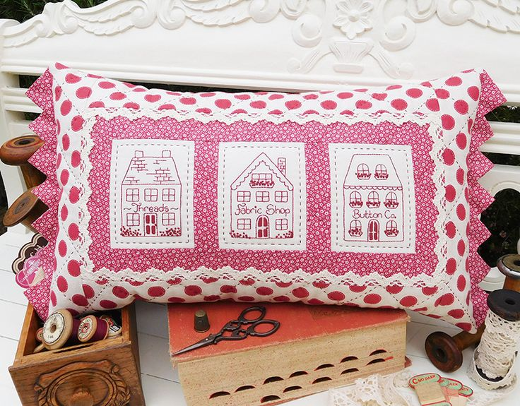 "Village Shops Finished cushion size: 12½"" x 22½"""