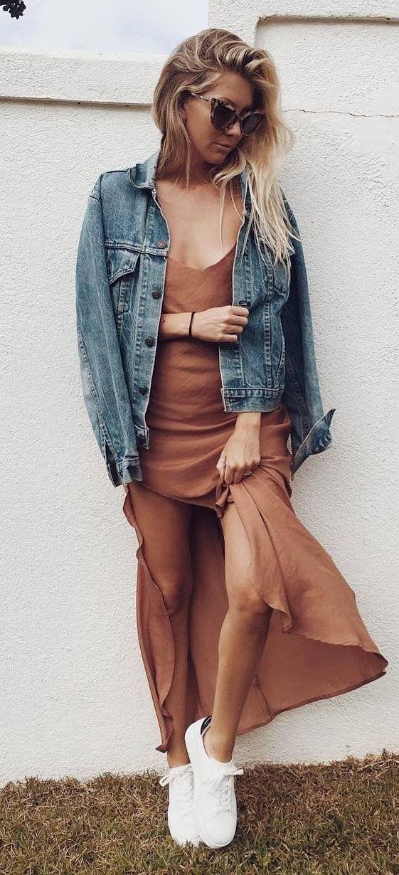 cool ootd: denim jacket + dress
