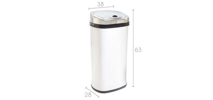 Poubelle automatique carrée blanche: optez pour nos poubelles - rdvdéco