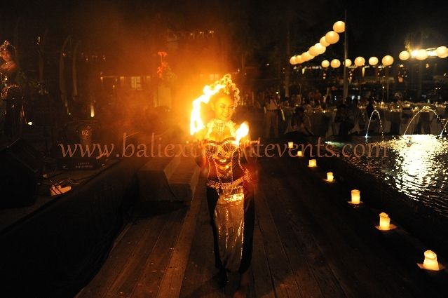 Exotic evening with Fire Dance
