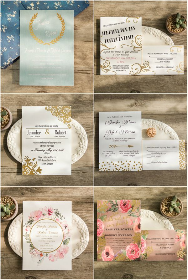 summer fete wedding invitations%0A TOP   Gold Foil Wedding Invitations With Matched Wedding Color Inspiration  For