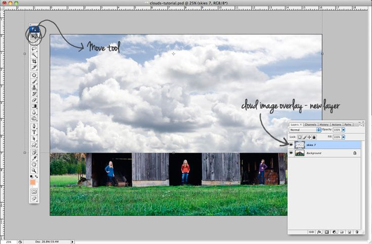 21 Clouds Making Photoshop Tutorial – Photoshop Website ...