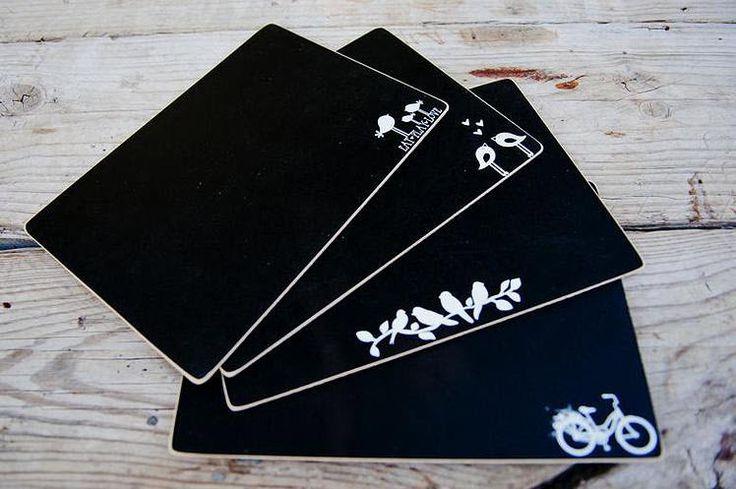 Blackboard Placemats - love it!