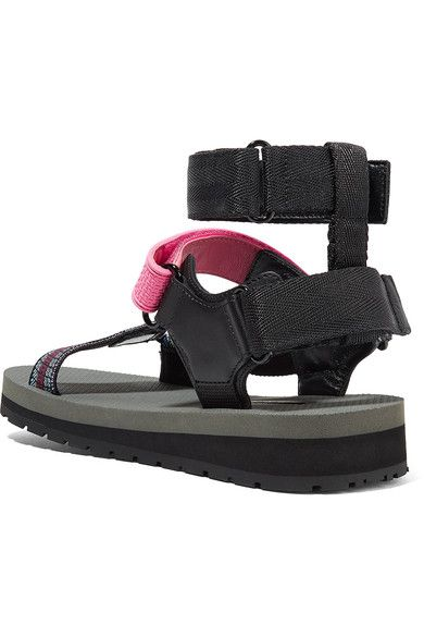 Prada - Canvas, Leather And Rubber Sandals - Pink - IT38.5