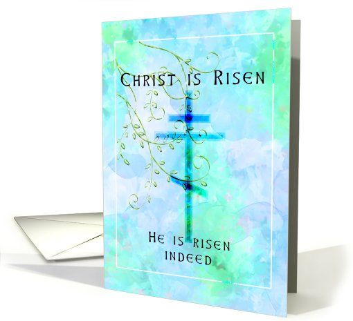 Orthodox Easter card (145898)  Christ is risen - he is risen indeed